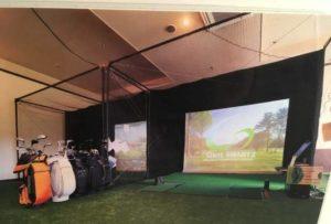 久山温泉ホテル夢家ではゴルフシミュレーションも楽しめる